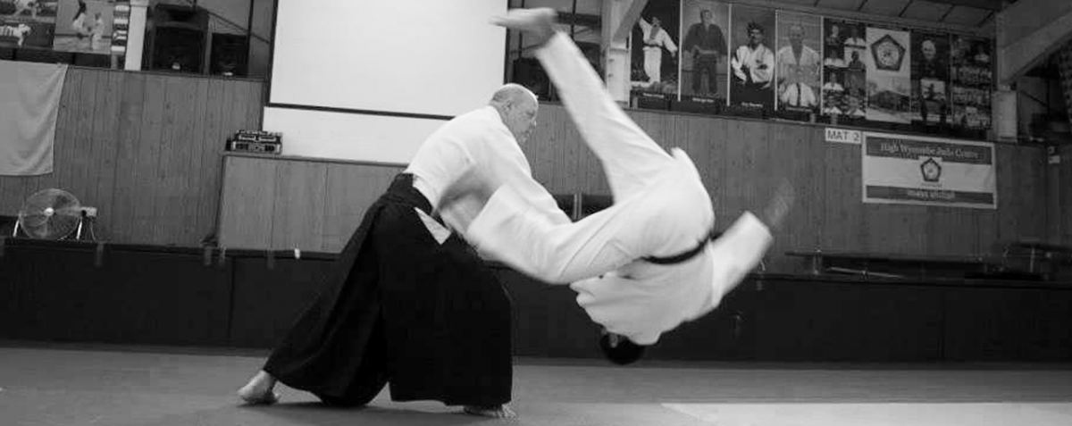 Mustard Shihan of Aikido Shobukai throws his uke